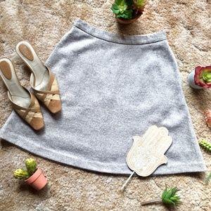 {Banana Republic} Lined Tan Wool Full Skirt, 2